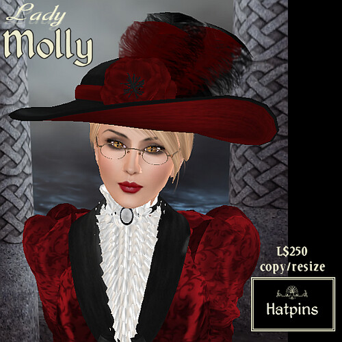Hatpins - Lady Molly - Red