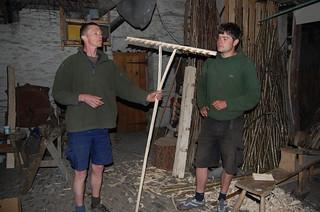 wooden hay rake making