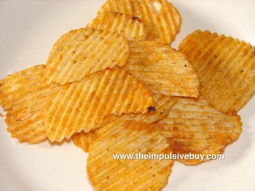 Ruffles Smokehouse Style BBQ Potato Chips Closeup