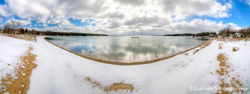 Omena Bay ... winter panorama