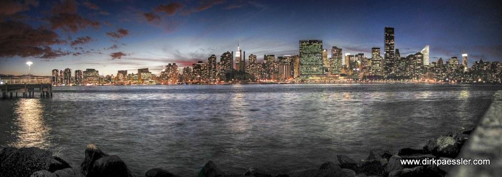 Manhattan Skyline After Sunset by Dirk Paessler