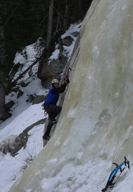 Doug Ice Climbing in Glacier Gorge