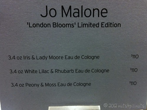Jo Malone London Blooms Collection Prices - Nordstroms - The Grove