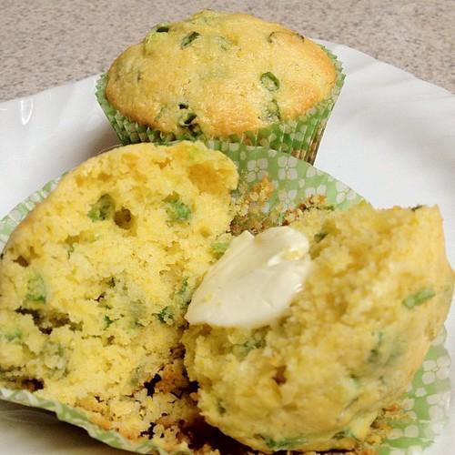Scallion Corn Muffins!