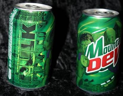2003 Hulk Mt Dew can