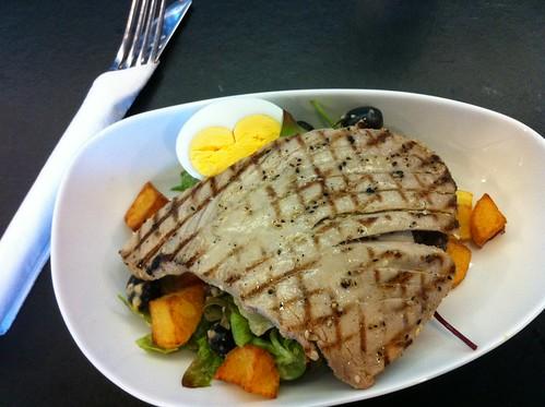 Fresh tuna over salad (half portion) at Fresco Bistro in Cork City