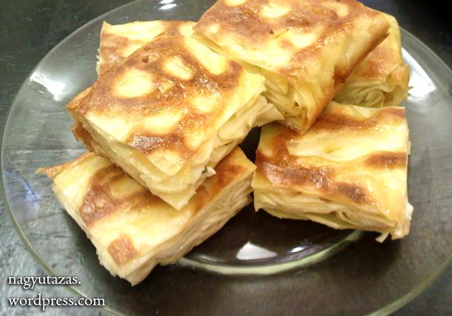 Török sajtos lepény - Su böreği