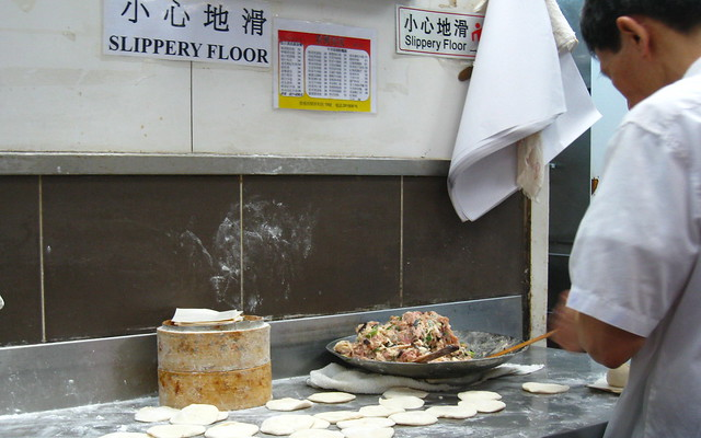 dumplings in the making