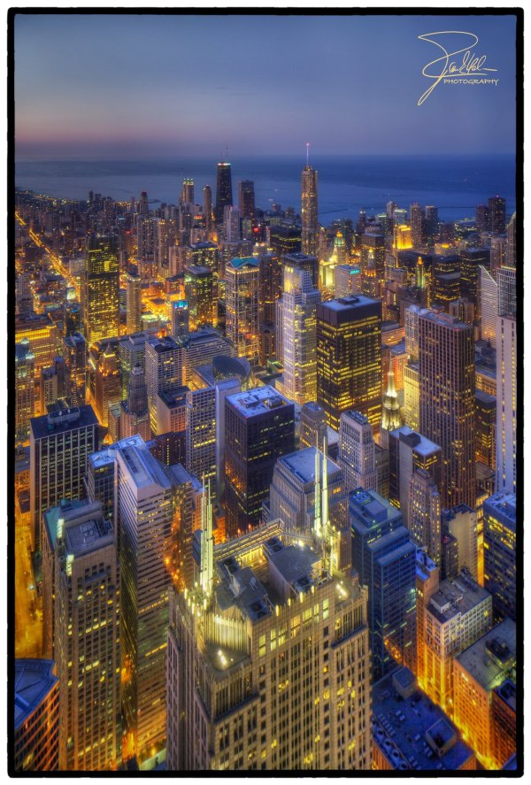 Chicago Night View Willis