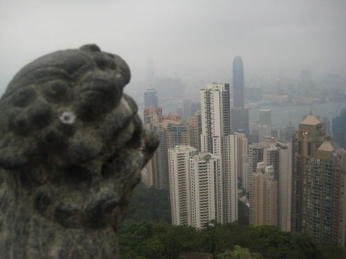 Lion guarding the peak