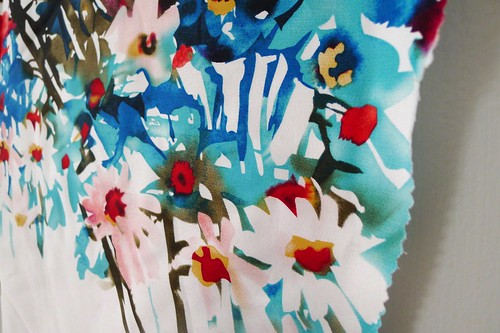 Watercolor Flower fabric