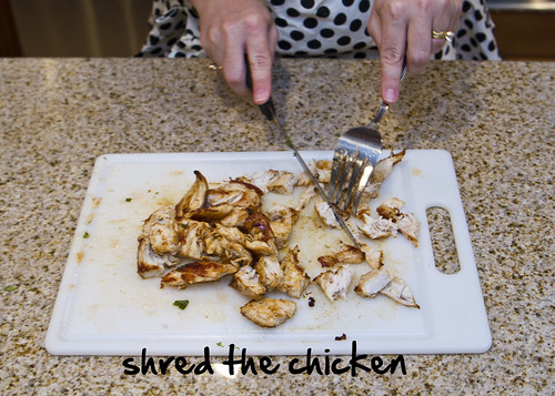 shred chicken
