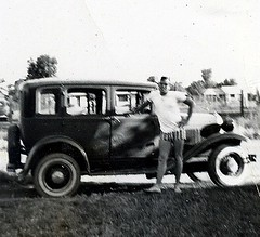 Mercier and his 1932 Model A Ford (1957)