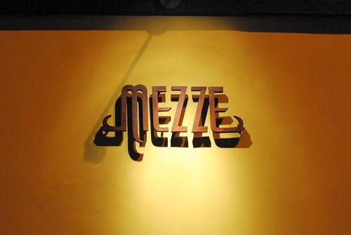 mezze signage