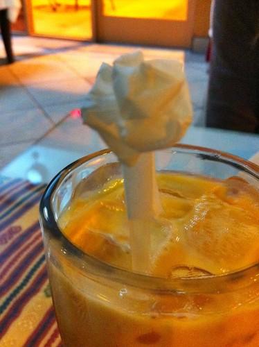 Roberta's Birthday Dinner 2012 002 Thai Ice Tea Rose