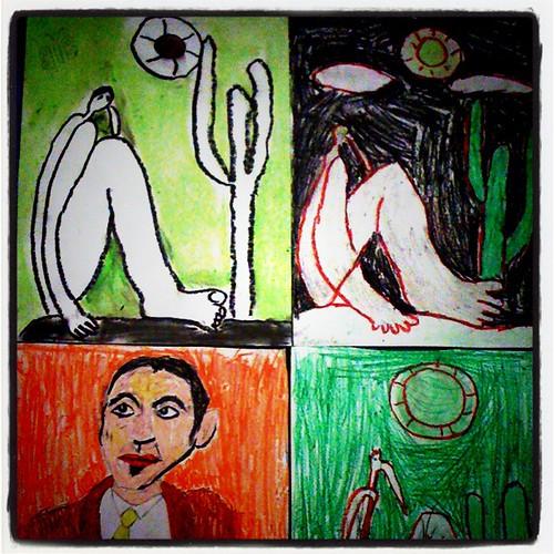 Abaporus revisited edition! Achei o máximo a exposição dos alunos fo Colégio #CIMAN! #arte #pintura #Tarsila #Abaporu