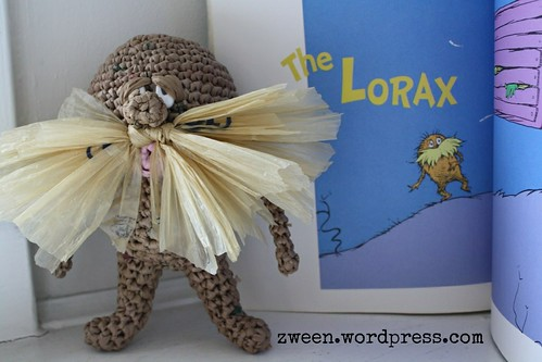 the Lorax in plarn