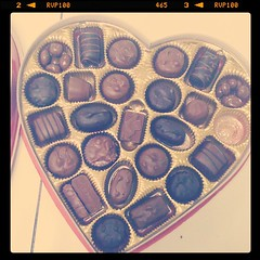 We had a couple of boxes of chocolate left over from Valentine's Day. I'd hate to see them go to waste...