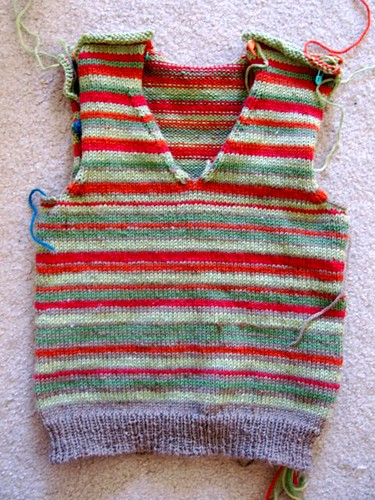 Striped Steeked Vest for a4a1e