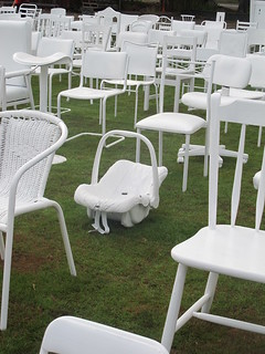 White chairs at Oxford Terrace Baptist Church