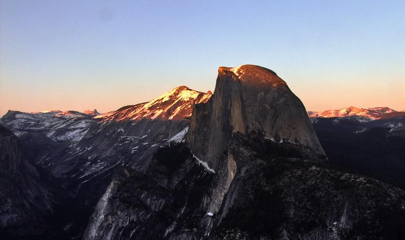 Sunset on Half Dome, Glacier Point, Yosemite National Park