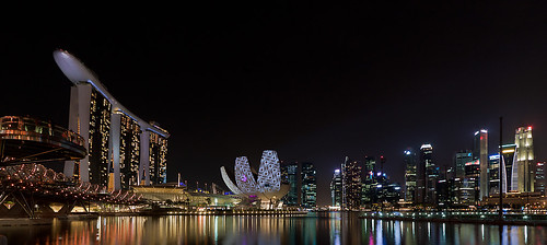 Night View of Marina Bay Sands, CBD by SkyStrike