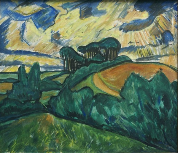 Erich Heckel Holsteinische Landschaft Landscape In