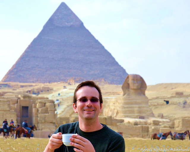 Drinking Tea at the Pyramids