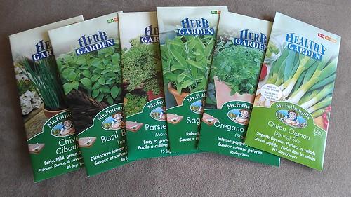 The herb garden selection