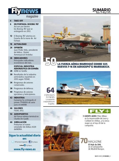Sumario Flynews nº21 mayo/2012
