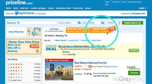 The Gray Matters Priceline Express Deals