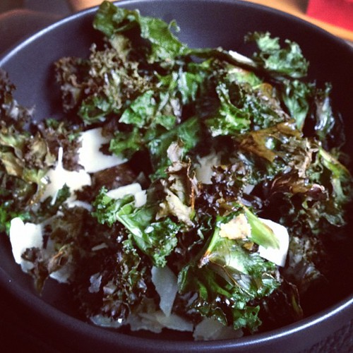 Instagram 28 Day Photo Challenge Day 10: Something I Made-Kale Chips with Parmesan