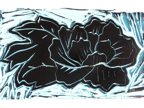 Flower Carved Linoleum Matrix