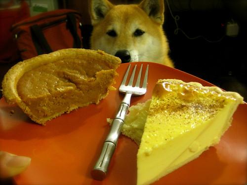 Sweet potato pie & egg custard pie