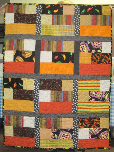 4 1/2 inch strip quilt, donated Feb 2012