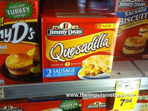 Jimmy Dean Quesadilla on shelf