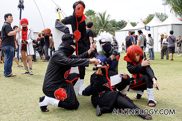 This group I know. They are from Naruto!