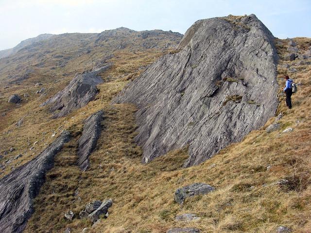 Descent from Druim a' Chuirn