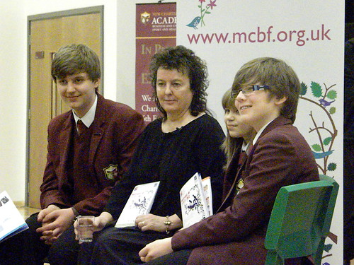 Carol Ann Duffy with students at New Charter Academy