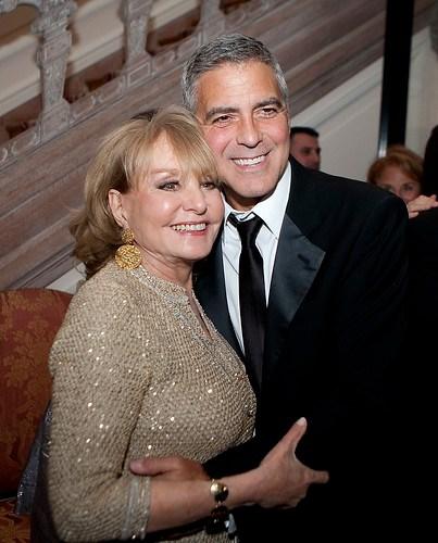 George Clooney and Barbara Walters