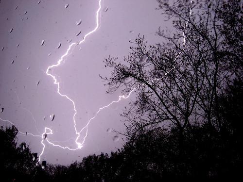 Some very bright lightning