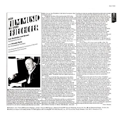 The Film Music of Hugo Friedhofer b