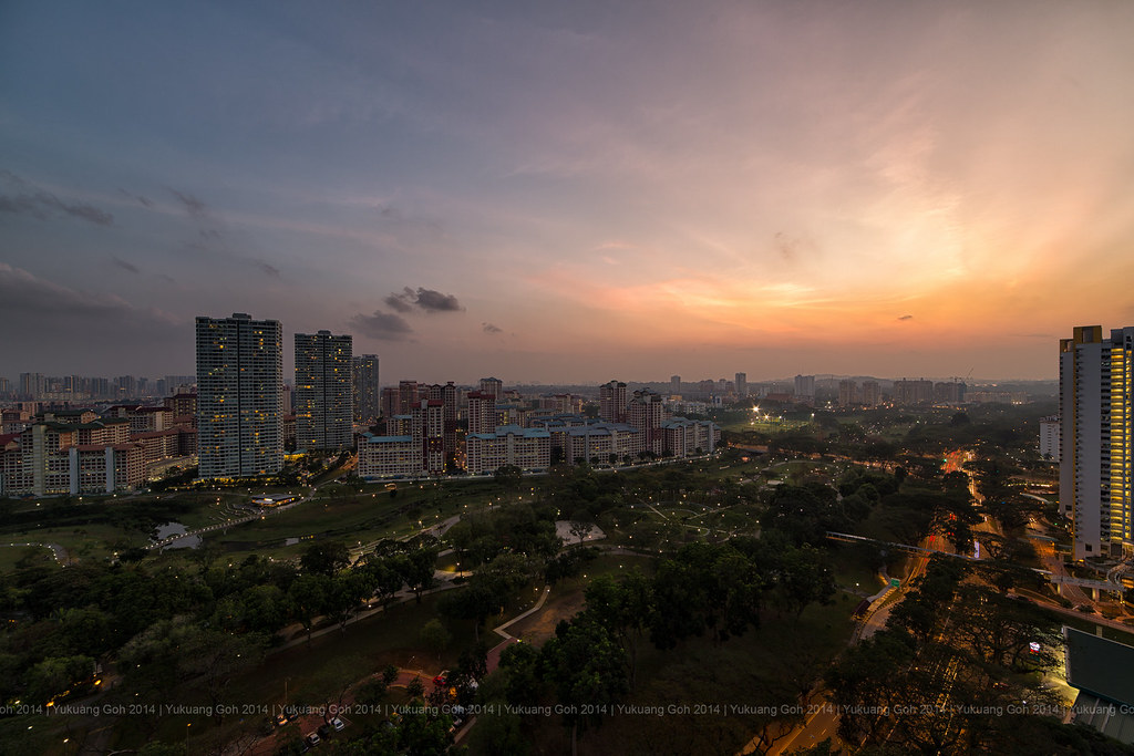 Sunset, Bishan Park