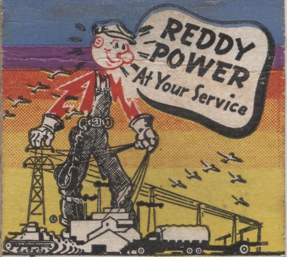 Reddy Kilowatt Matchbook 01a