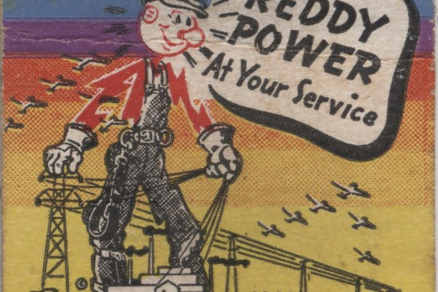Reddy Kilowatt Matchbook 01a