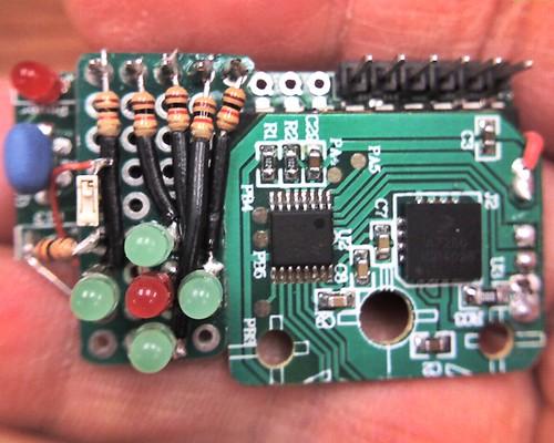 assembled JeonLabmini v1.3 - Wii Nunchuck - bubble LEDs