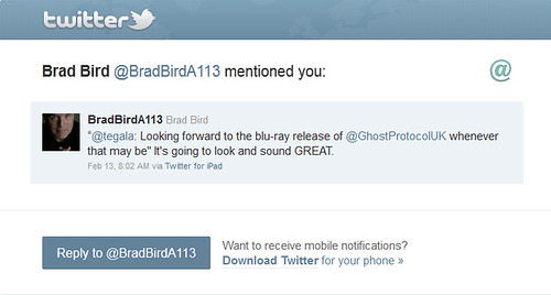 BradBirdA113 Twitter Response