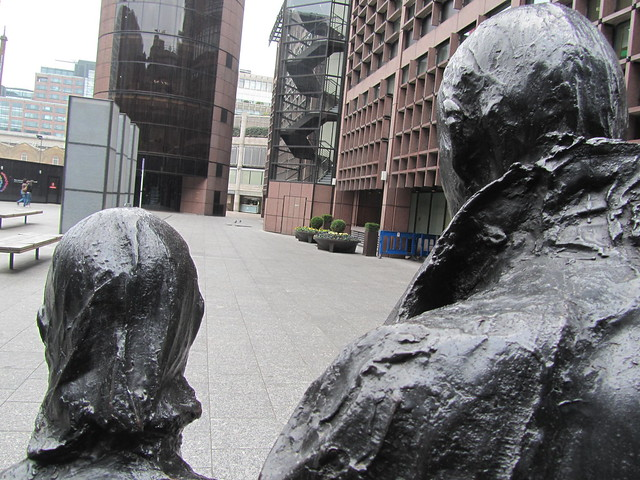 Rush Hour by George Segal, Finsbury Avenue Square