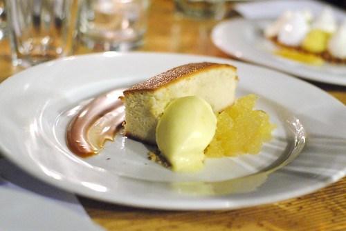 Brown Butter Almond Cake, Apples, Salted Caramel, Orange Creamsickle
