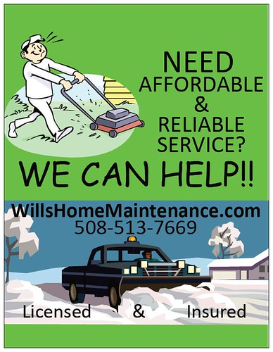 plowing lawn care Will's Home Maintenance